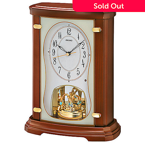 602-946 - Seiko Melodies in Motion Pendulum Mantel Clock Made w/ Swarovski® Elements