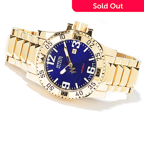 602-963 - Invicta Reserve Men's Excursion Swiss Quartz Gold-tone Stainless Steel Watch