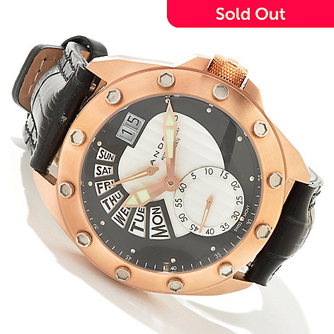 603-223 - Android Men's Concept T Quartz Retrograde Leather Strap Watch
