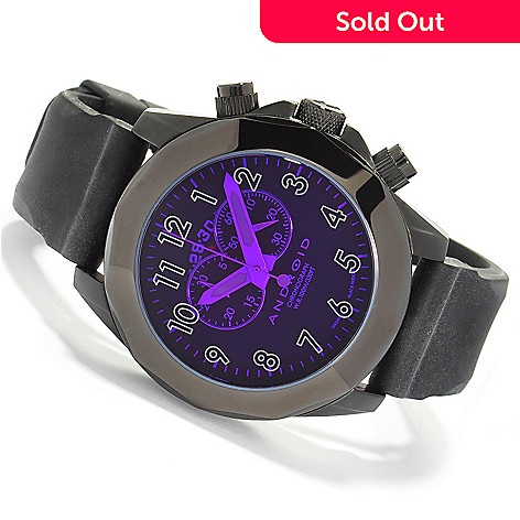 603-542 - Android Men's Euxine2 Swiss Chronograph Rubber Strap Watch