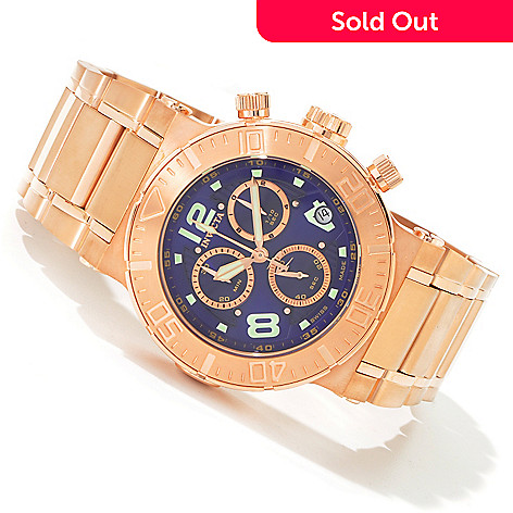 603-572 - Invicta Reserve Men's Ocean Reef Swiss Quartz Chronograph Rose-tone Watch
