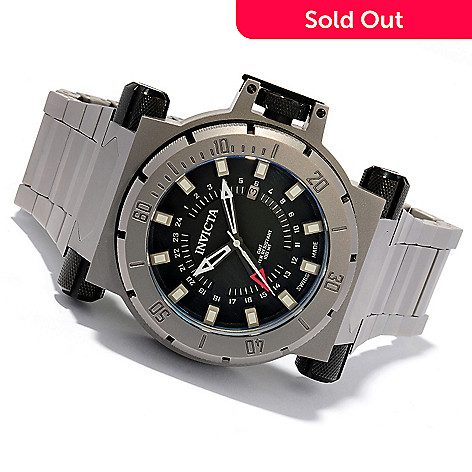 603-667 - Invicta Men's Coalition Forces Swiss Quartz GMT Titanium Case & Bracelet Watch