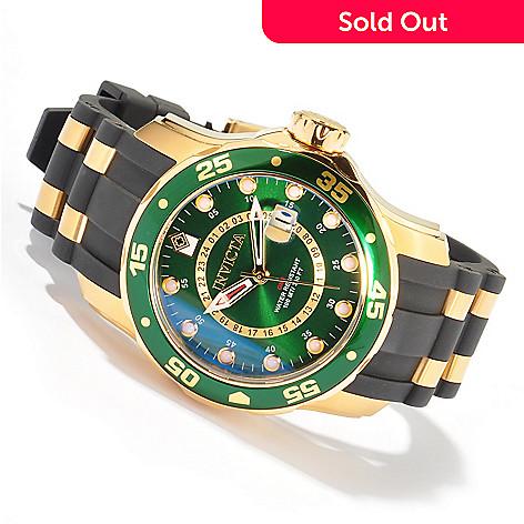 603-754 - Invicta Men's Pro Diver Scuba Quartz GMT Strap Watch