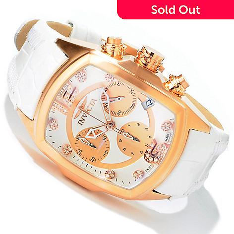 603-975 - Invicta Women's Lupah Revolution Swiss Chronograph Leather Strap Watch