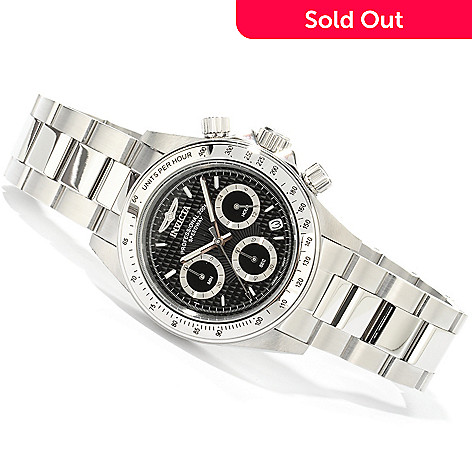 604-003 - Invicta Men's Speedway Chronograph Stainless Steel Bracelet Watch