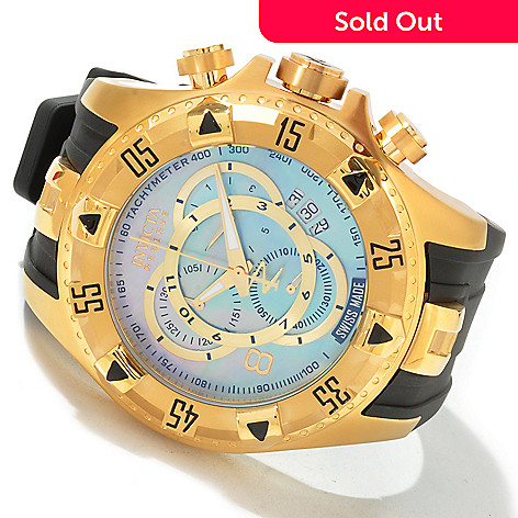 604-311 - Invicta Reserve Men's Excursion Touring Edition Swiss Quartz Chronograph Polyurethane Strap Watch