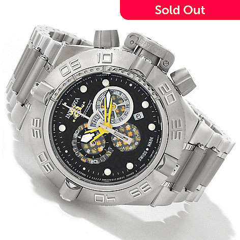 604-405 - Invicta Men's Subaqua Noma IV Swiss Quartz Stainless Steel Bracelet Watch