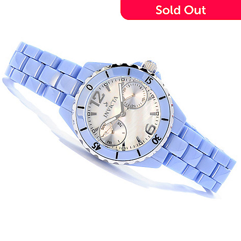 604-430 - Invicta Ceramics Women's Ocean Diver Quartz Day and Date Bracelet Watch