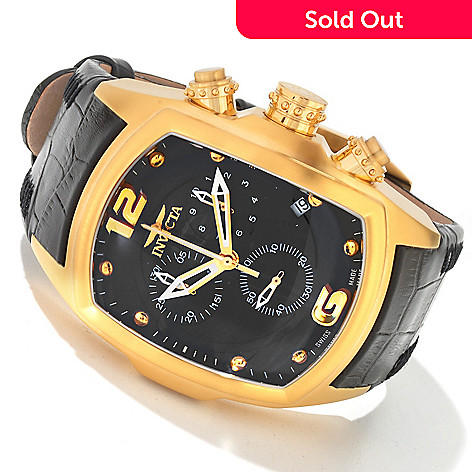 604-435 - Invicta Men's Lupah Swiss Chronograph Genuine Leather Strap Watch