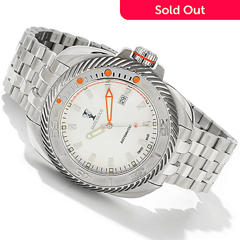 604-474 - Imperious Men's Gearhead Swiss Automatic Exhibition Back Stainless Steel Bracelet Watch