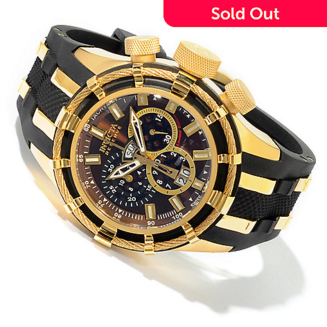 604-485 - Invicta Reserve Men's Bolt Limited Edition Swiss Chronograph Day & Date Polyurethane Strap Watch