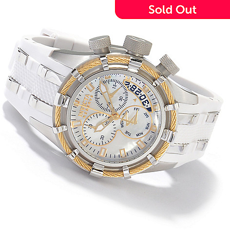 604-502 - Invicta Reserve Women's Bolt Mother of Pearl Swiss Quartz Strap Watch