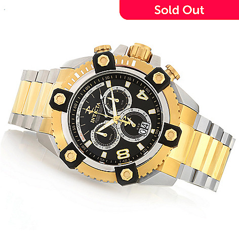 604-629 - Invicta Reserve 63mm Swiss Made Quartz Chronograph Stainless Steel Bracelet Watch