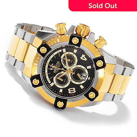 604-630 - Invicta Reserve 63mm Grand Octane Swiss Made Quartz Chronograph Stainless Steel Bracelet Watch