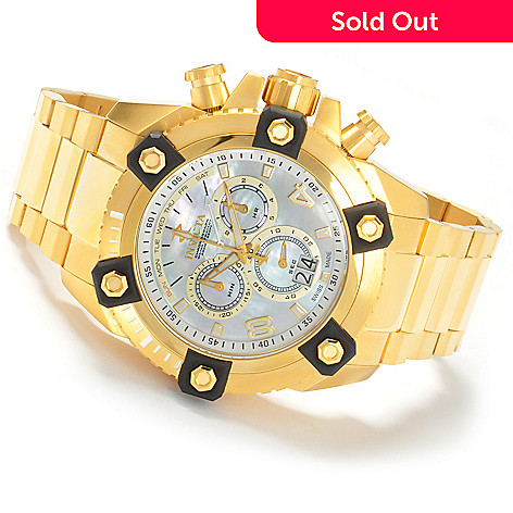 604-631 - Invicta Reserve 63mm Grand Octane Swiss Made Quartz Stainless Steel Bracelet Watch