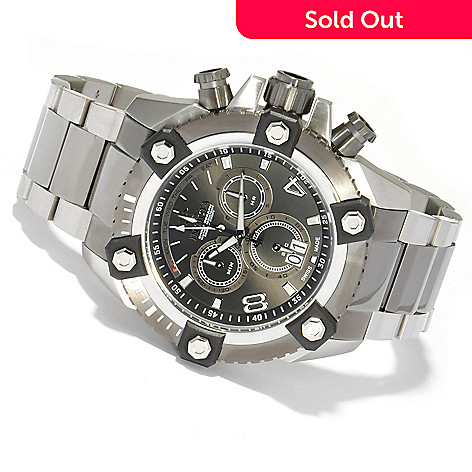 604-632 - Invicta Reserve 63mm Swiss Made Quartz Chronograph Stainless Steel Bracelet Watch