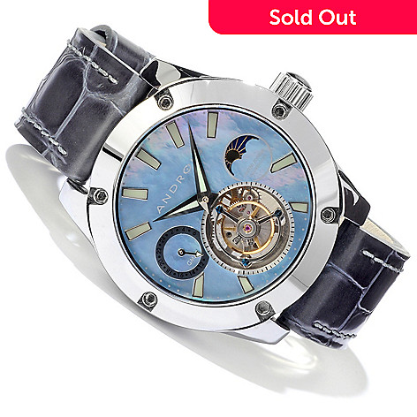 604-792 - Android Men's Antigravity Tungsten Tourbillon Strap Watch