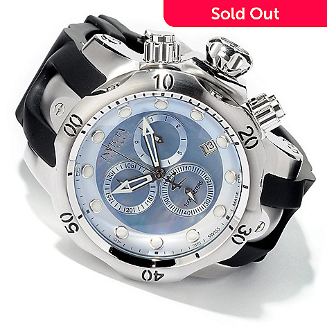 604-800 - Invicta Reserve Men's Subaqua Venom Swiss Made Quartz Chronograph Polyurethane Strap Watch