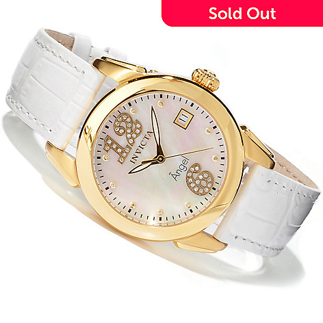 604-811 - Invicta Women's Angel Andraste Diamond Stainless Case Strap Watch