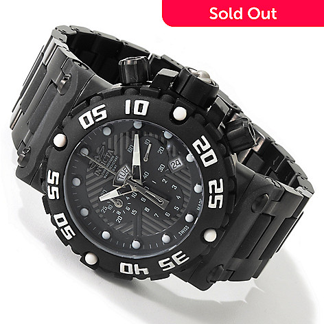 604-819 - Invicta Men's Subaqua Nitro Combat Swiss Made Quartz Chronograph Polyurethane Bracelet Watch