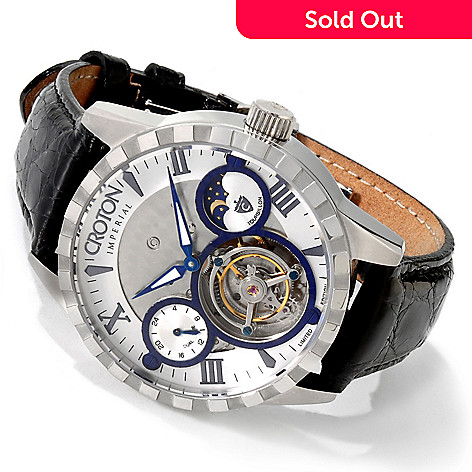 604-831 - Croton Men's Limited Edition Imperial Tourbillon Mechanical Watch