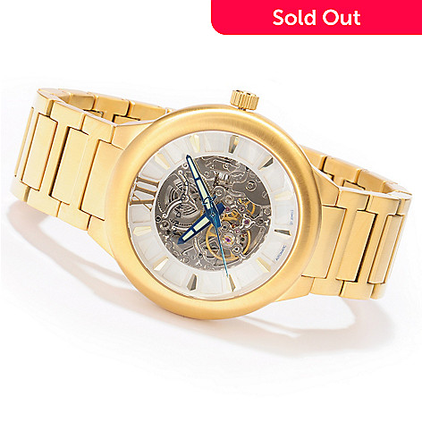 604-856 - Android Radius Skeleton Automatic Stainless Steel Bracelet Watch