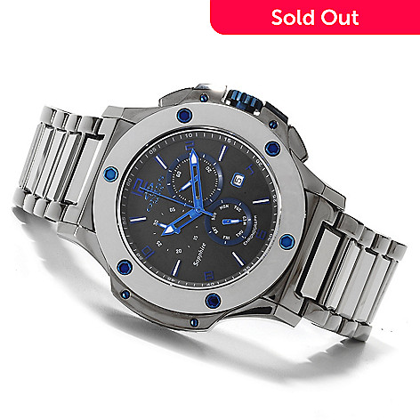604-859 - Oniss Men's Bold Swiss Quartz Chronograph Tungsten Bracelet Watch