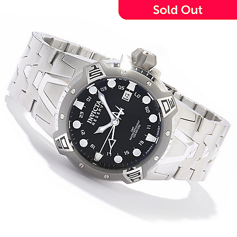 604-959 - Invicta Reserve Men's Sea Excursion Swiss GMT Stainless Bracelet Watch