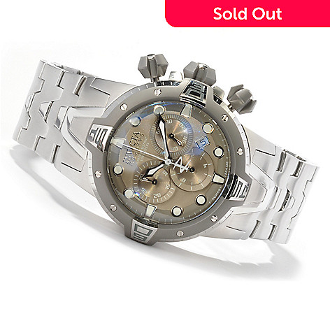 604-960 - Invicta Reserve Men's Sea Excursion Swiss Made Quartz Chronograph Stainless Steel Watch