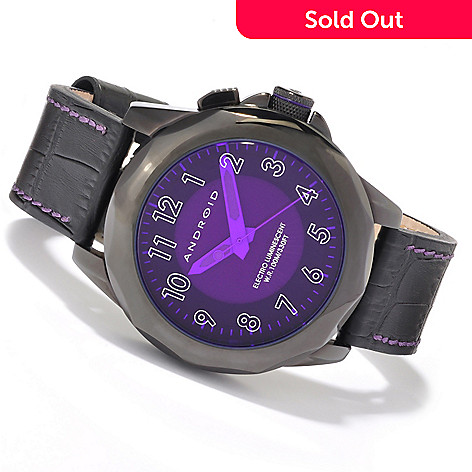 605-043 - Android Men's EL Edition Euxine Quartz Leather Strap Watch