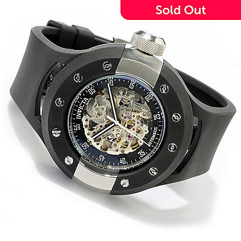 605-050 - Invicta Men's S1 Vintage Racer Skeletonized Automatic Polyurethane Strap Watch