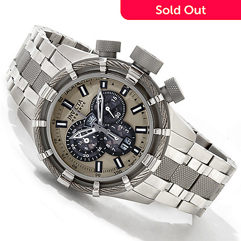 605-065 - Invicta Reserve Men's Bolt Swiss Quartz Chronograph Bracelet Watch