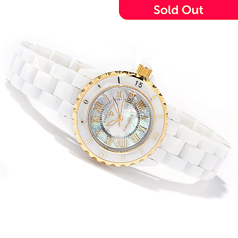605-113 - Swiss Legend Women's Petite Karamica Swiss Quartz Ceramic Bracelet Watch