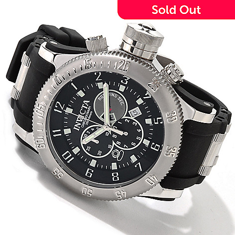 605-125 - Invicta Men's Russian Diver Quartz Chronograph Strap Watch