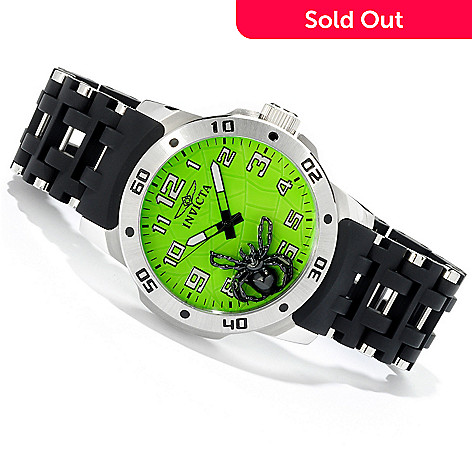 605-137 - Invicta Men's Sea Spider Quartz Movement Stainless Case Polyurethane Bracelet Watch