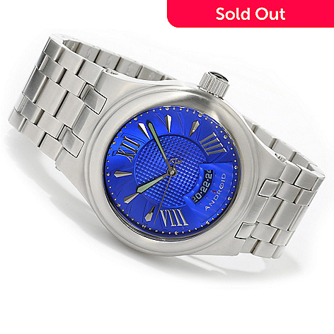 605-151 - Android Men's Spiral Automatic Stainless Steel Bracelet Watch