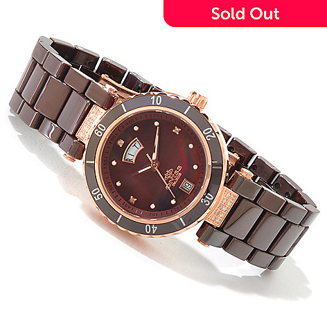 605-163 - Oniss Women's Rodeo Classic Quartz Movement Diamond Ceramic Bracelet Watch