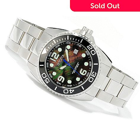 605-178 - Invicta Men's Grand Diver Quartz Movement Stainless Case Bracelet Watch