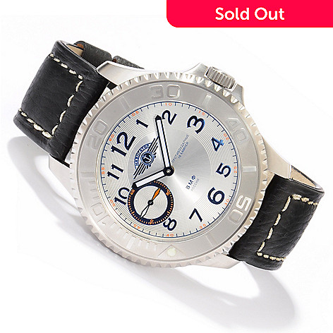 605-222 - Moscow Classic Men's Navigator Diver Mechanical Leather Strap Watch