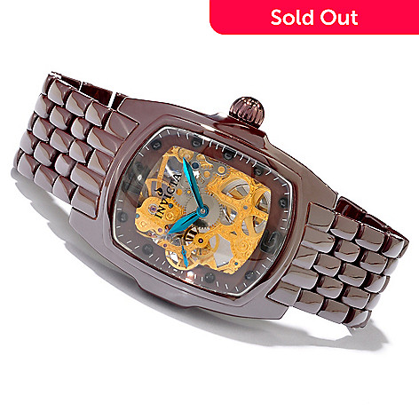 605-243 - Invicta Lupah Mechanical Skeleton Ceramic Bracelet Watch
