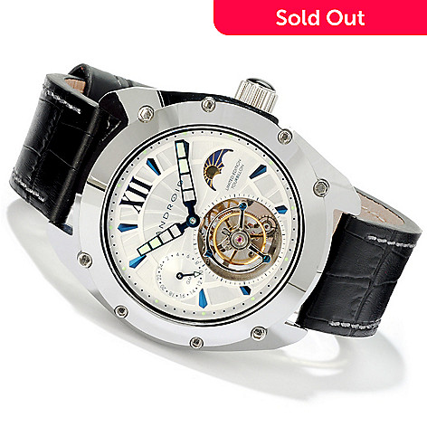 605-269 - Android Men's Virtuoso Limited Edition Mechanical Tourbillon Leather Strap Watch