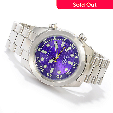 605-271 - Android Men's Armor 50 Automatic Stainless Steel Bracelet Watch