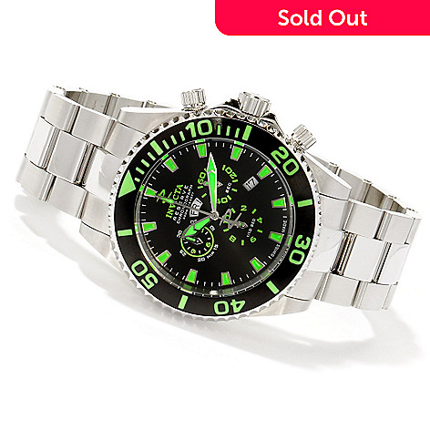 605-349 - Invicta Reserve Men's Grand Diver Lume Swiss Quartz Chronograph Stainless Steel Bracelet Watch