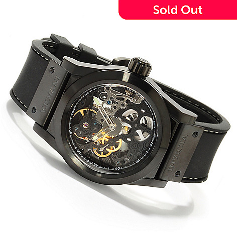 605-365 - Invicta Men's Skeleton Sea Ghost Mechanical Stainless Case Strap Watch