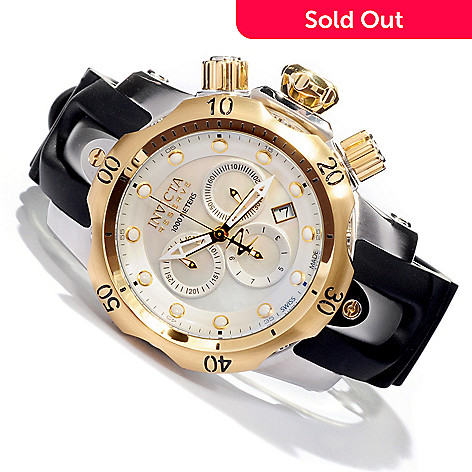 605-374 - Invicta Reserve 45mm Venom Swiss Quartz Chronograph Strap Watch