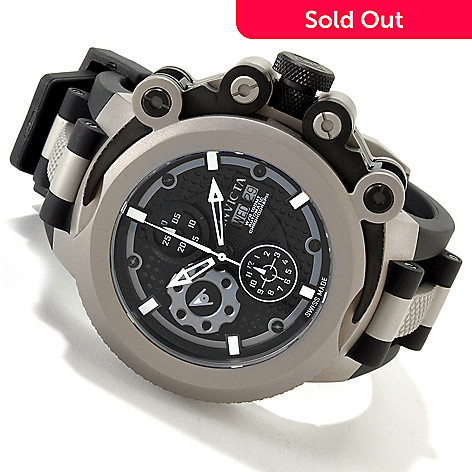 605-379 - Invicta Men's Coalition Forces Swiss Made Automatic Chronograph Titanium Case Strap Watch