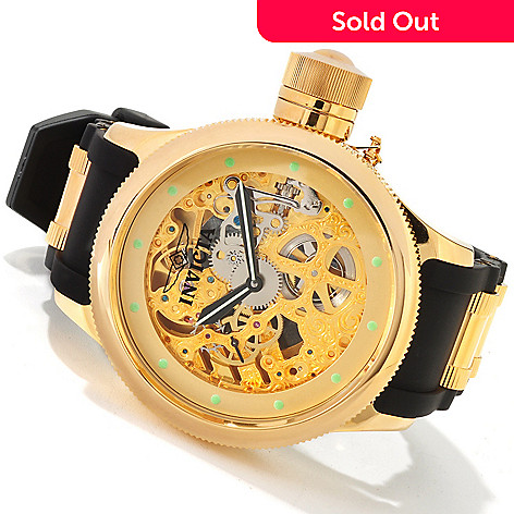 605-506 - Invicta Men's Quinotaur Russian Diver Mechanical Strap Watch