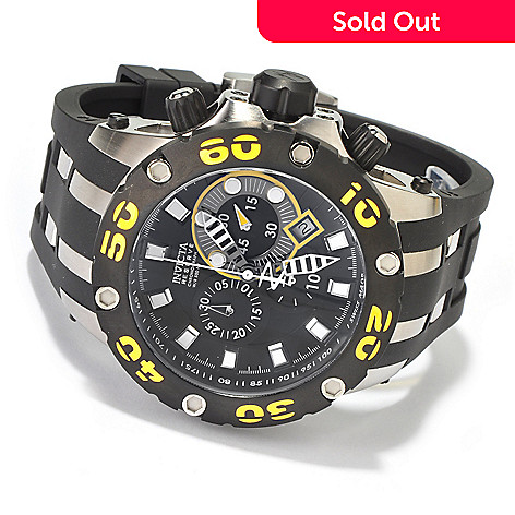 605-521 - Invicta Reserve Men's Specialty Subaqua Scuba Swiss Made Quartz Chronograph Polyurethane Strap Watch