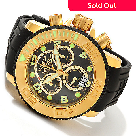 605-531 - Invicta Men's Sea Hunter Swiss Made Quartz Chronograph Retrograde Polyurethane Strap Watch
