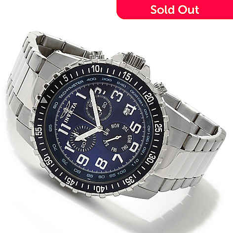 605-533 - Invicta Men's Pilot Quartz Chronograph Stainless Steel Bracelet Watch